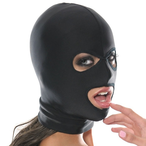 Mascara Negra Bdsm Sado Bondage - Sexshop Ofertas