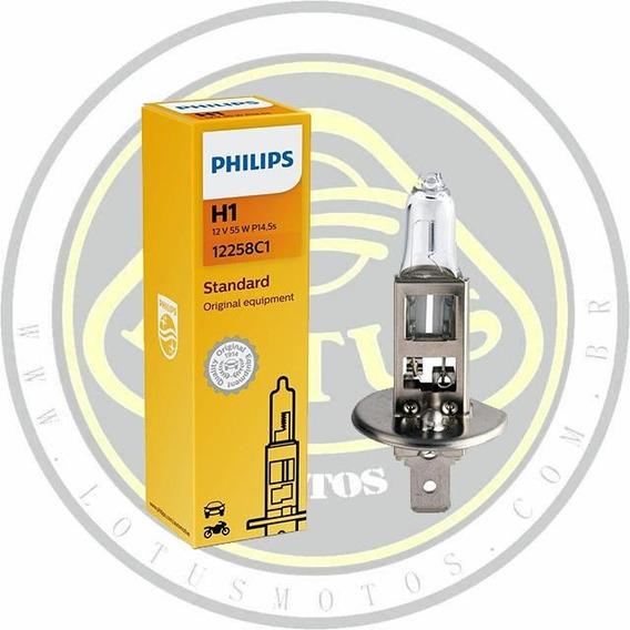Lampada Do Farol Philips H-01 Dafra Maxsym 400 Original 002857 Com Nota