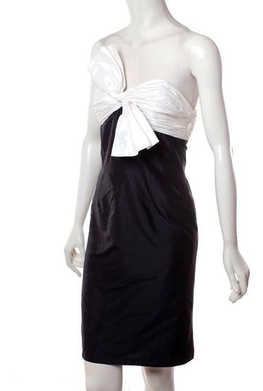 Vestido Blanco Con Negro María Isabel