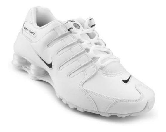 Tênis Nike Shox 12 Molas Branco E Preto Masculino