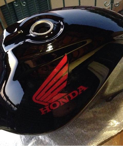 Tanque Combustível Moto Honda Cg125 Fan Preto 2010 A 2013