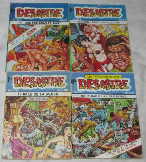 Desastre Lote De 4 Comics De Colección.