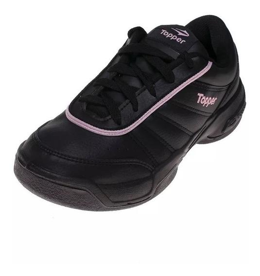Topper Zapatillas Tenis Mujer Lady Tie Break Iil Negro-rosa