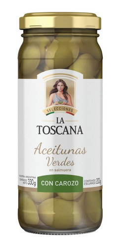 Aceitunas Verdes Con Carozo La Toscana