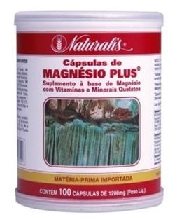 Magnésio Plus Minerais E Aminoácidos 100 Cápsulas De 1200mg