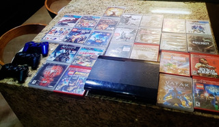 Playstarion3 Slim 500gb + 2 Control + 25 Juegos Originales