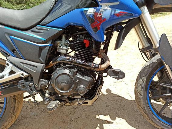 Supermotard Ttx Akt 180 15.5 Hp Negra Azul