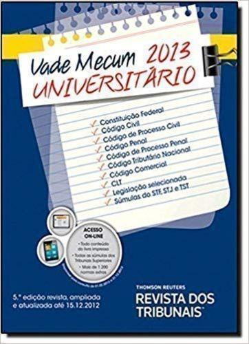 Vade Mecum Universitario 2013 Equipe Revista Dos Tribunais