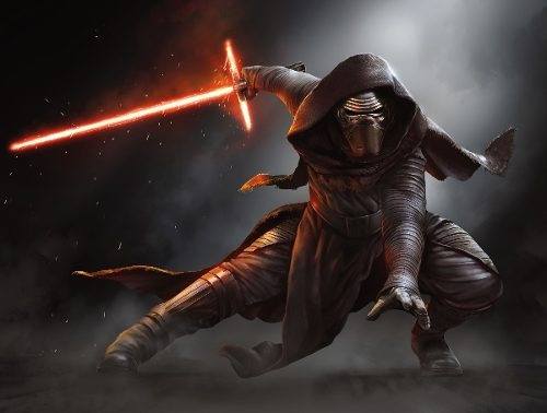 Poster Kylo Ren The Force Awakens- Star Wars 38 X 50 Cm