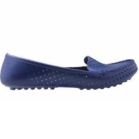 814fe18d87 Sapato Mocassim Feminino Azul E Bege Scaleno