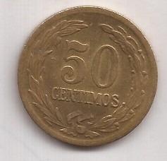 Paraguay Moneda De 50 Centimos Año 1944 !!!!!!!!!