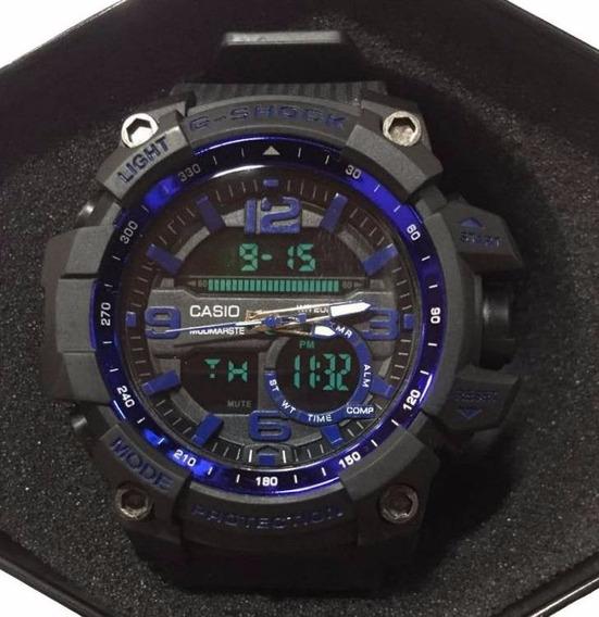 Rélogio G-shock Preto Detalhe Azul Frete Gratis