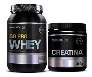 Whey Isolado Iso Pro Whey Protein 900g Probiótica + Creatina