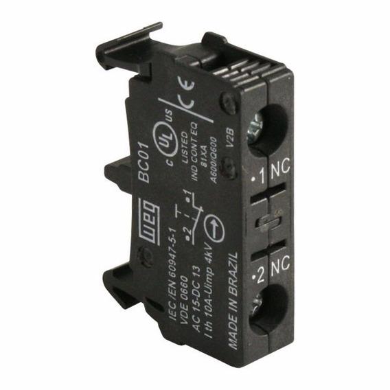 Bloco De Contato 1nf Comando/sinaliz Weg Bc01-csw Kit 9pçs