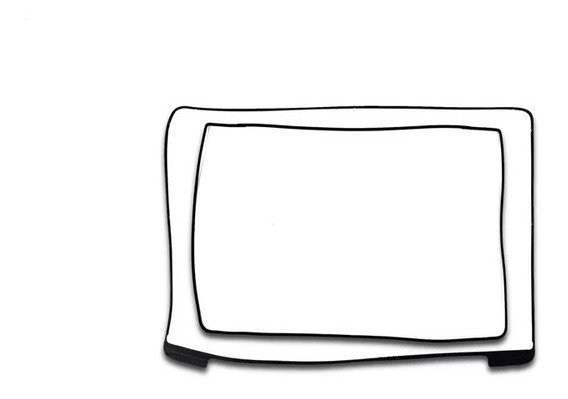 Moldura Borracha Tela Macbook Retina 15 A1398 2012 À 2015