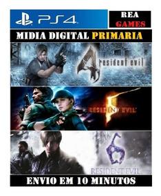 Resident Evil 4 , 5 , 6 Ps4 Original 1 Promoção