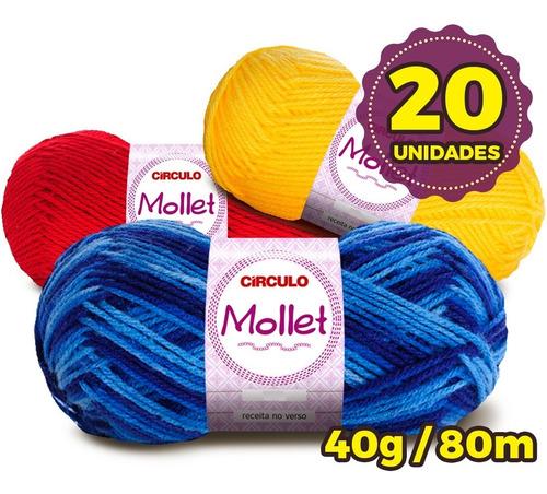 Lã Mollet Círculo 40g -  Kit 20 Novelos * Super Oferta *