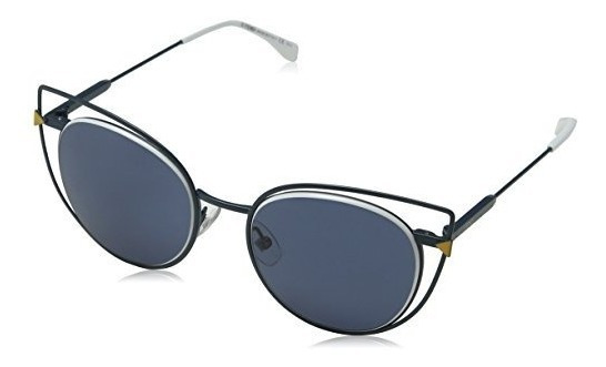 Fendi 0176 S Tlp Azul 0176 S Gafas De Sol Redondas Categ