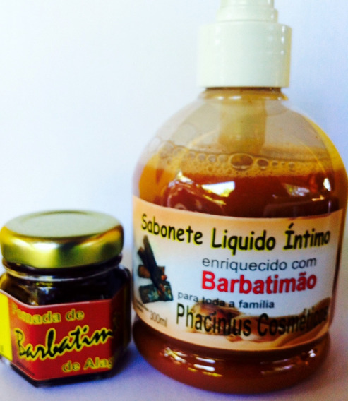 Barbatimão Pomada 30gr. (hpv) Sabonete Líq. Barbatimão 300ml