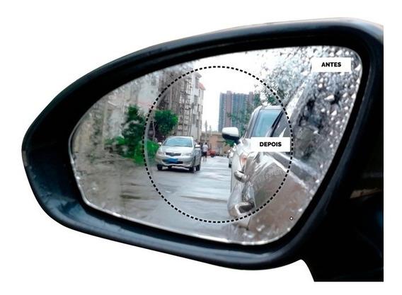 Kit 2 Película Retrovisor Anti Embaçamento Chuva Carro Moto