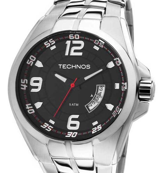 Relógio Technos Prateado Masculino Racer 2115ksw/1r + Nf