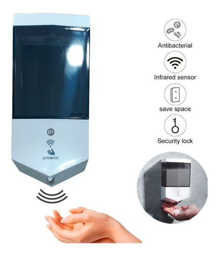 Dispensador Sensor Automático De Jabón Liquido 600ml De Lujo