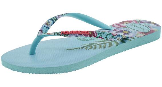 Chinelo Feminino Slim Sensation Havaianas - 4141852 Azul