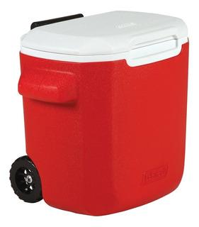 Caixa Térmica Cooler Coleman 15,2 Litros 16 Qt Rodas E Alça