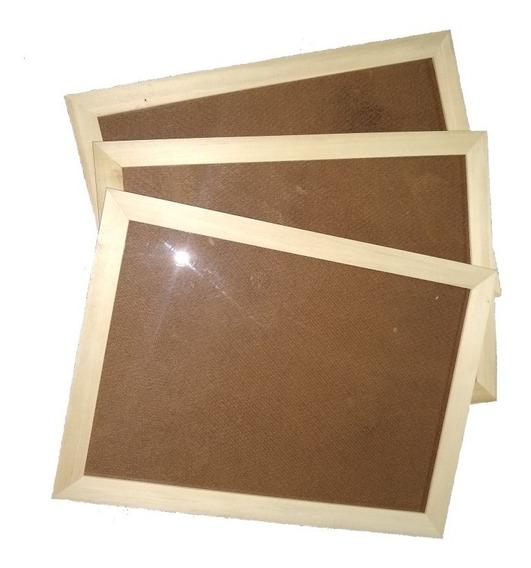 4x Marco Cuadro Diploma A4 21x30 Madera Natural Vidrio