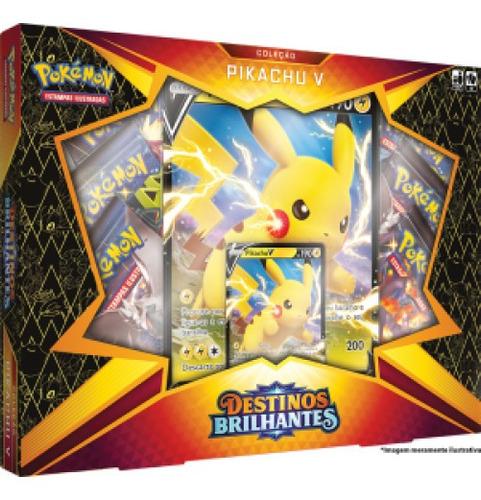 Pokemon Box Pikachu V Destinos Brilhantes
