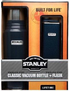 Termo Stanley 1 Litro + Petaca Azul