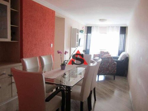 Apartamento Com 3 Dormitórios À Venda, 70 M² Por R$ 545.000,00 - Parque Imperial - São Paulo/sp - Ap39752