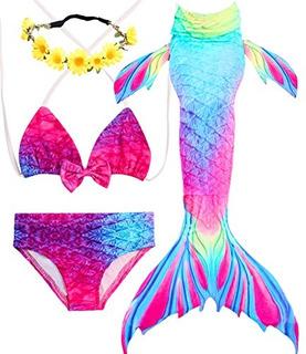 Vestido De Baño Para Niña Bikini Tres Piezas Importado U S A