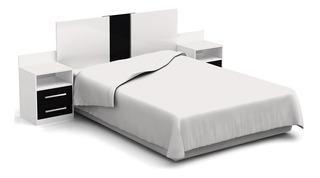 Juego De Dormitorio Respaldo Cama + 2 Mesas De Luz S874