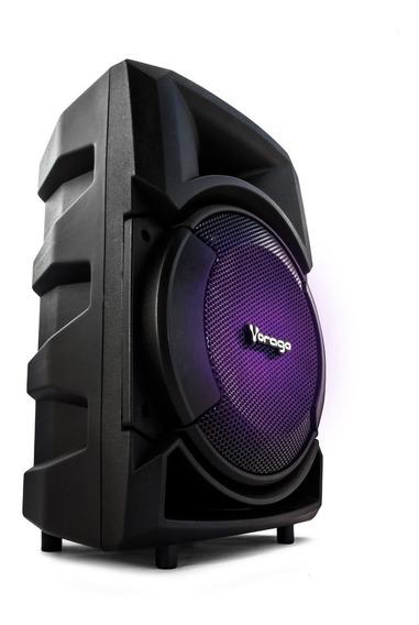 Bafles Amplificados 8 Pulgadas Bluetooth Recargable Bocina Vorago Audio Profesional Usb Radio Micrófono