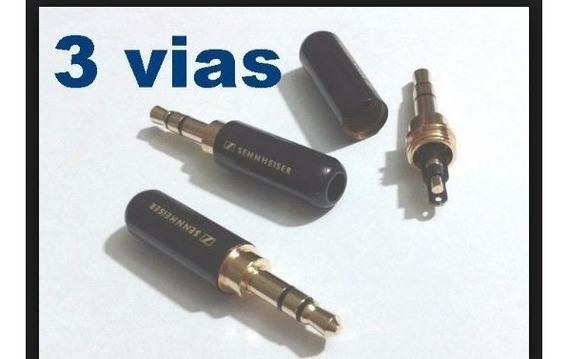 12 Plugs P2 3,5mm 3 Polos - Audio - Fone Ou Microfone