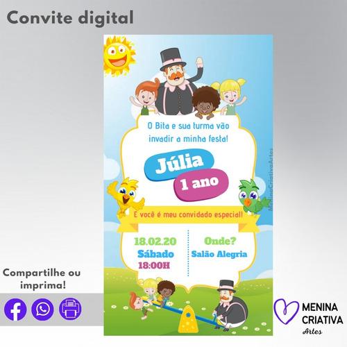 Imagem 1 de 3 de Convite Digital Mundo Bita