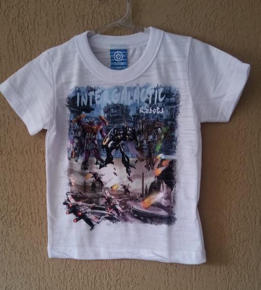 Camiseta Com Manga Curta Infantil Para Bebe Menino Tamanho-3