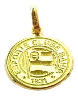 Pingente Futebol Ouro 18k Esporte Clube Bahia Grande + Porta Joias 0090