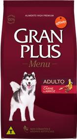 Ração Gran Plus Menu Carne E Arroz Para Cães Adultos 3kg