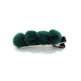 Presilha Cabelo Pompom (verde)
