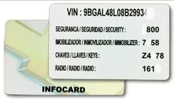 Senhas Chevrolet Cartão Infocard Gm Cartão Códigos Vin