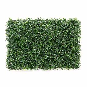 Placa Grande Grama Artificial Buxinho Muro Inglês 60 X 40 Cm