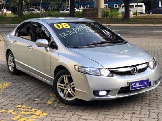 Honda Civic Exs Automatico Top Bancos Couro 3mil Entrada+999
