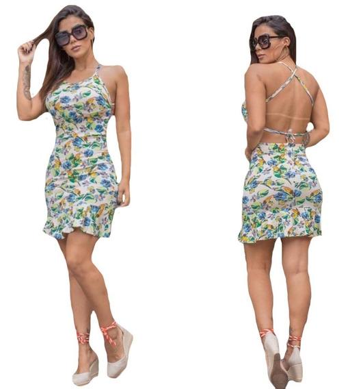 Vestido Curto Feminino Florido Estampado Verão Modinha Barat