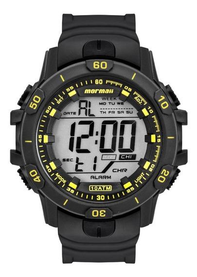 Relógio Masculino Mormaii Mo3690aa/8y 53mm Borracha Preto