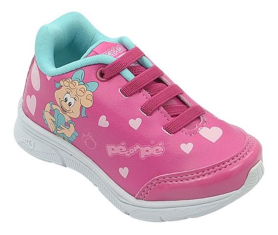 Tênis Infantil Menina Guty Mascote Pink Pé Com Pé