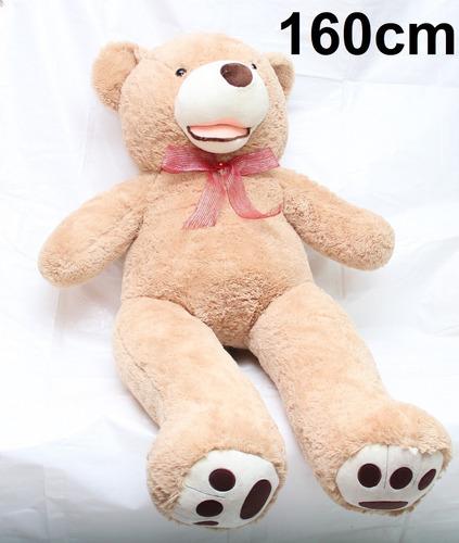 Imagem 1 de 7 de Urso Gigante Caramelo Pelúcia 1,60 Mts 160cm + Lacinho Love