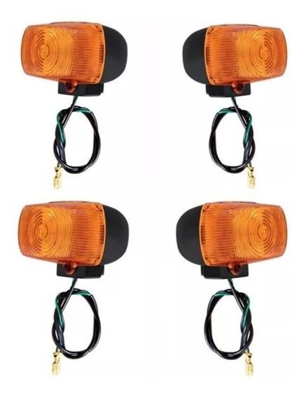 Jogo 4 Pisca Seta Bros125 Bros150 C/ Lampada Modelo Original