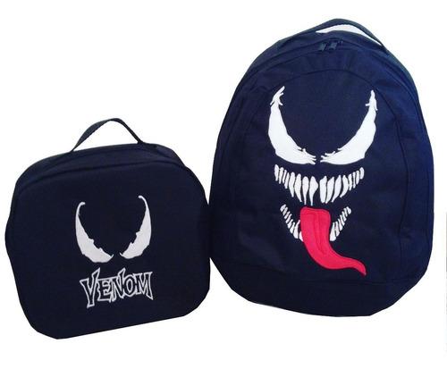 Bolso Morral Escolar Y Lunchera De Venom Spiderman